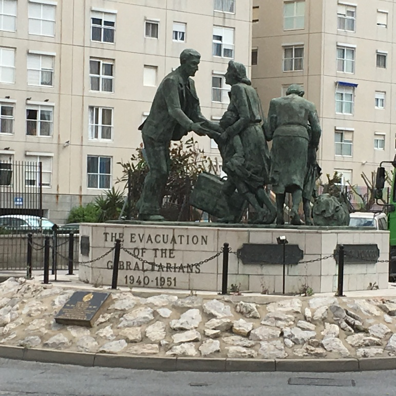 Memorial to the evacuation