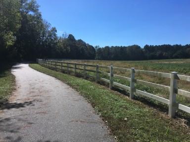 Miles of white fences