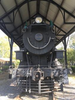Railroad themed trailhead